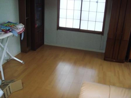 畳から防音フロアー工事後
