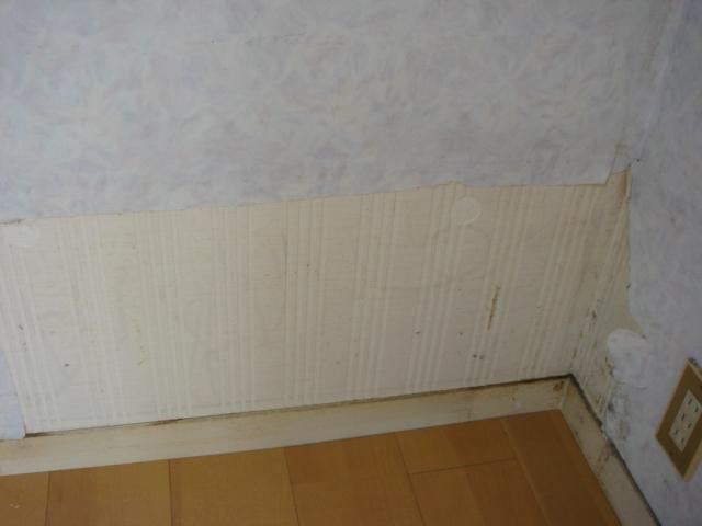 壁紙クロス補修前の写真